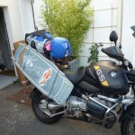 Transporter son Kite en moto